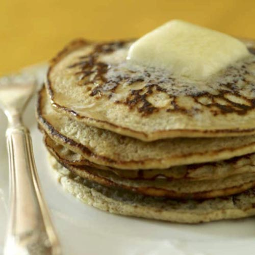 flax seed and almond milk pancake
