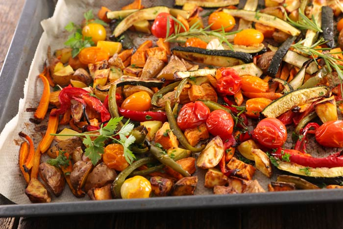 roasted assorted vegetables